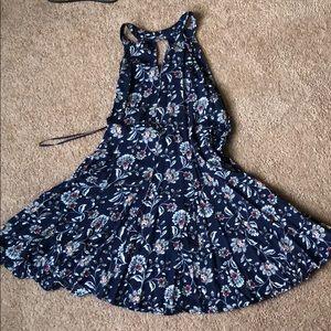 Halter Backless Floral Dress